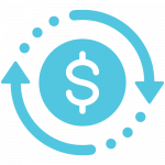 Bad credit loan funds transfer icon